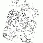 AusmalBild zu Ostern Henne und Küken 14