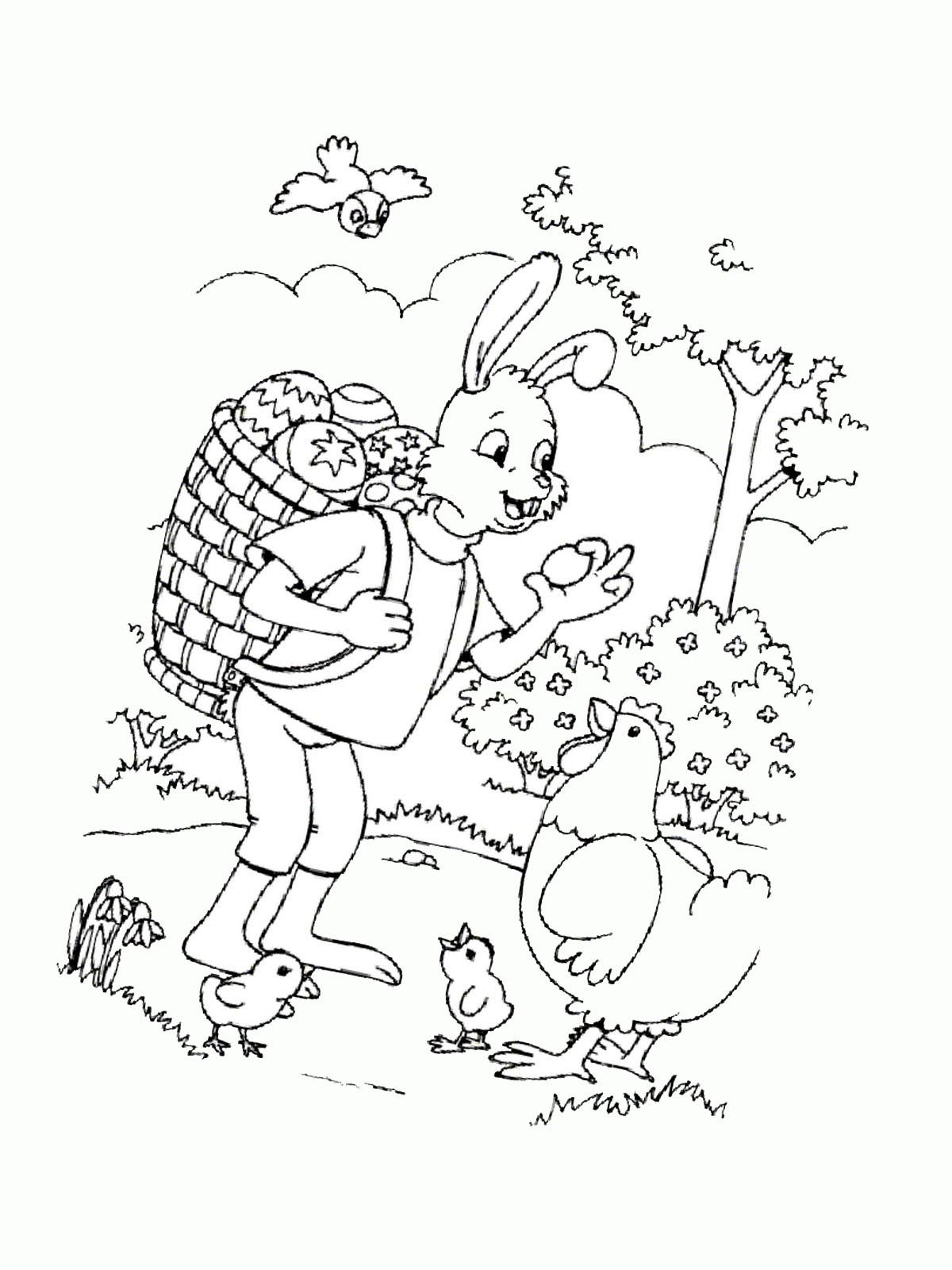 Ausmalbild Zu Ostern Henne Und Küken 14 Märchen Aus Aller Welt