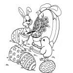 AusmalBild zu Ostern Küken und Eier 11