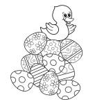 AusmalBild zu Ostern Küken und Eier 12
