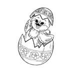 AusmalBild zu Ostern Küken und Eier 13
