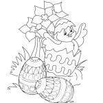 AusmalBild zu Ostern Küken und Eier 15