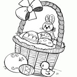AusmalBild zu Ostern Küken und Eier 16