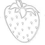 Ausmalbild Erdbeere 21 zum Ausdrucken