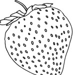 Ausmalbild Erdbeere 24 zum Ausdrucken