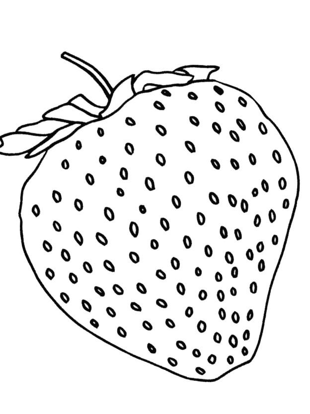 ausmalbild erdbeere 24 zum ausdrucken  märchen aus aller