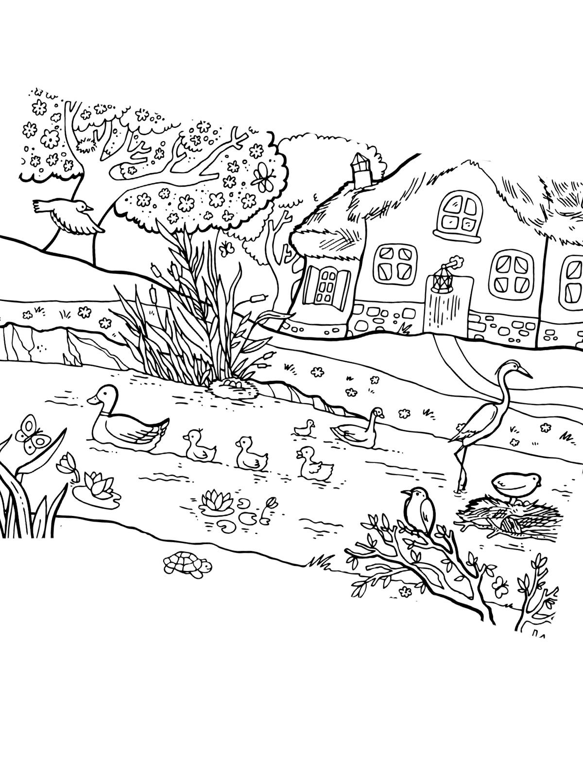 Ausmalbilder Zum Ausdrucken Frühling : Ausmalbild Fr Hling 26 Zum Ausdrucken M Rchen Aus Aller Welt Der