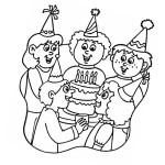 Ausmalbild Geburtstag 22 zum Ausdrucken