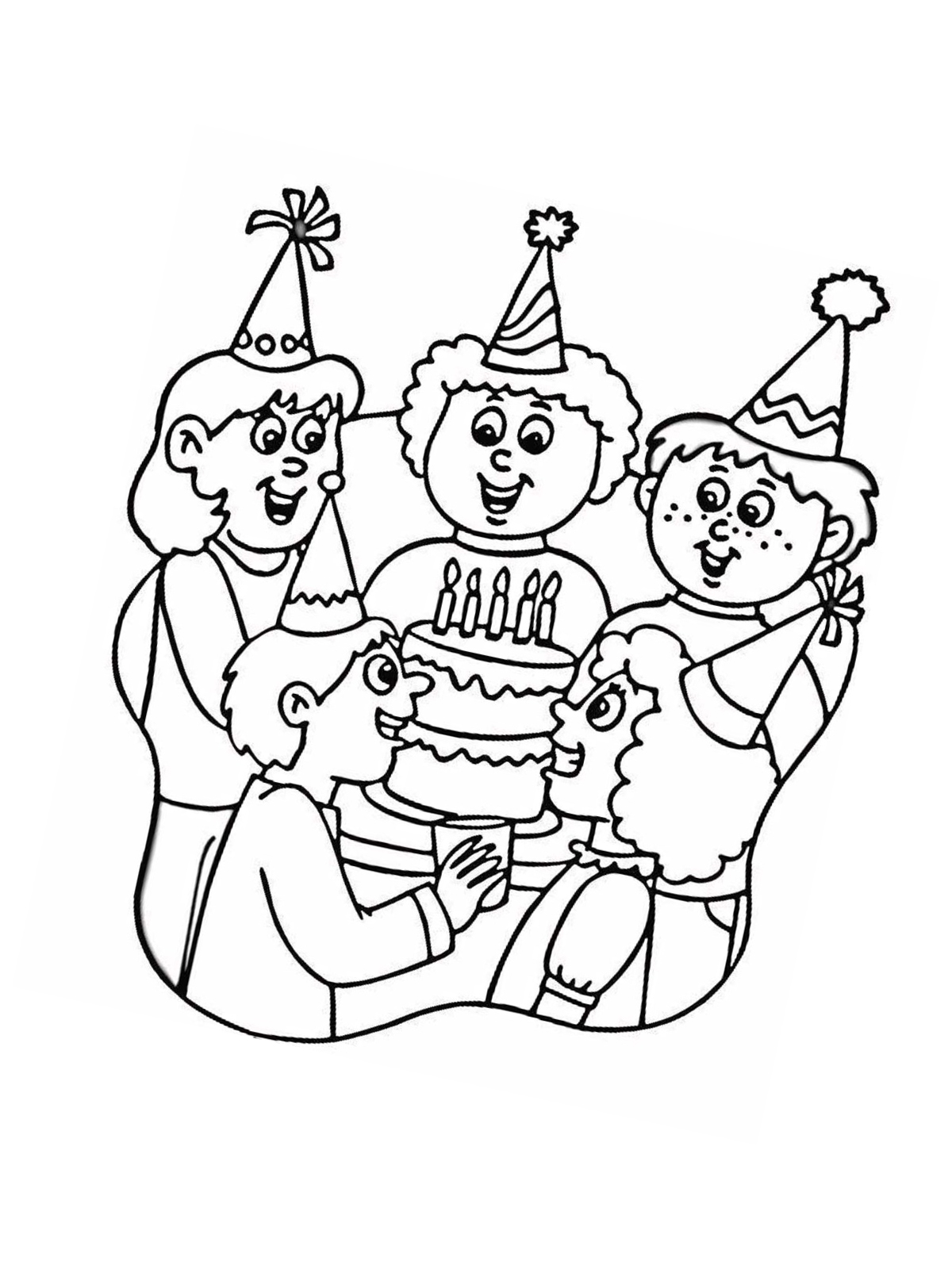 Geburtstag Ausmalbilder Zum Ausdrucken : Ausmalbilder Malvorlagen Zum Geburtstag Kostenlos Zum Ausdrucken