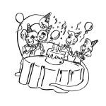 Ausmalbild Geburtstag 24 zum Ausdrucken