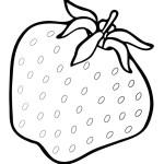 Ausmalbilder Erdbeere 10 kostenlos