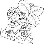 Ausmalbilder Erdbeere 5 kostenlos