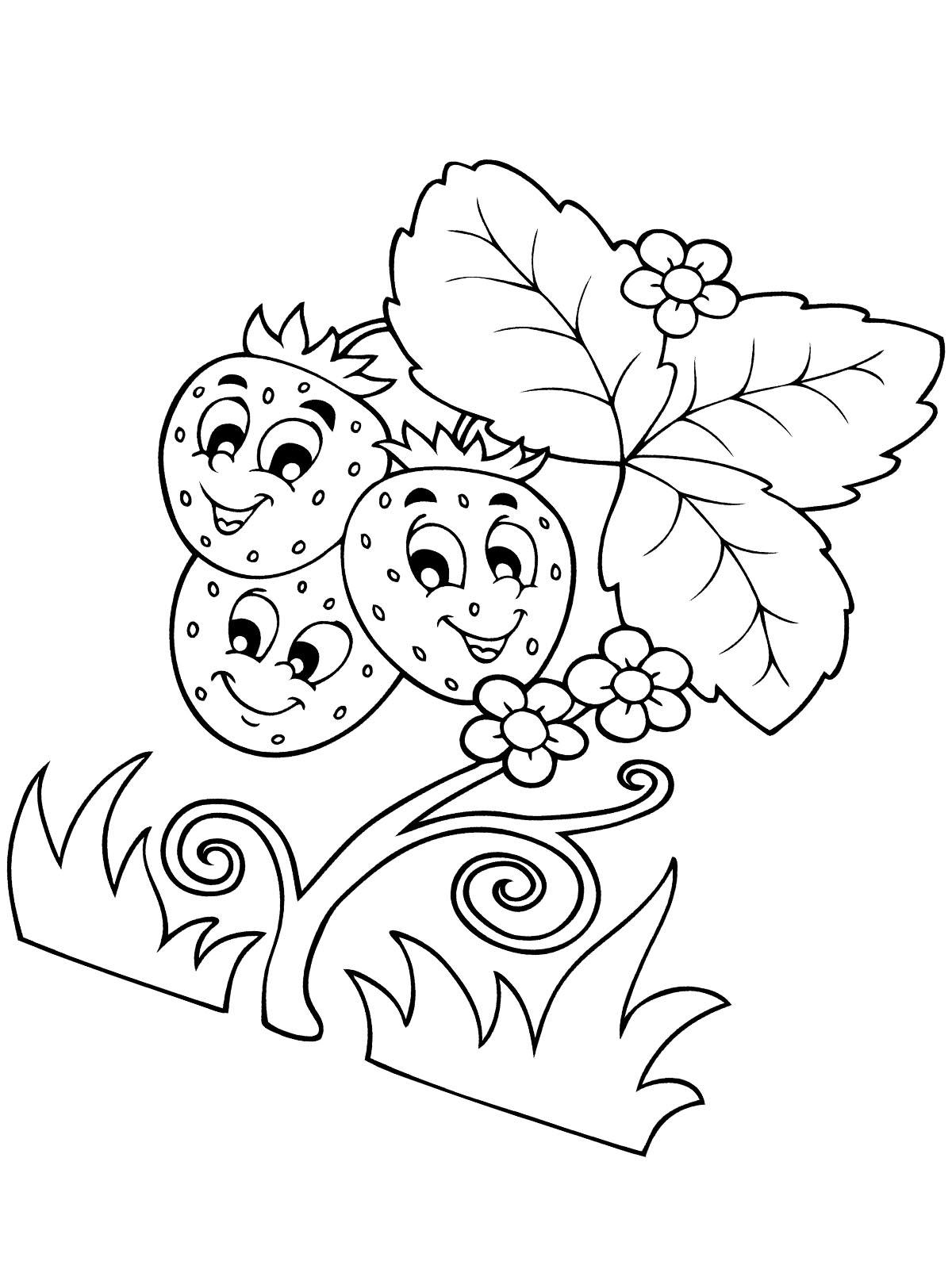 Ausmalbilder malvorlagen erdbeere kostenlos zum - Bilder zum verschicken gratis ...