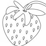 Ausmalbilder Erdbeere 7 kostenlos