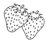 Ausmalbilder Erdbeere 9 kostenlos