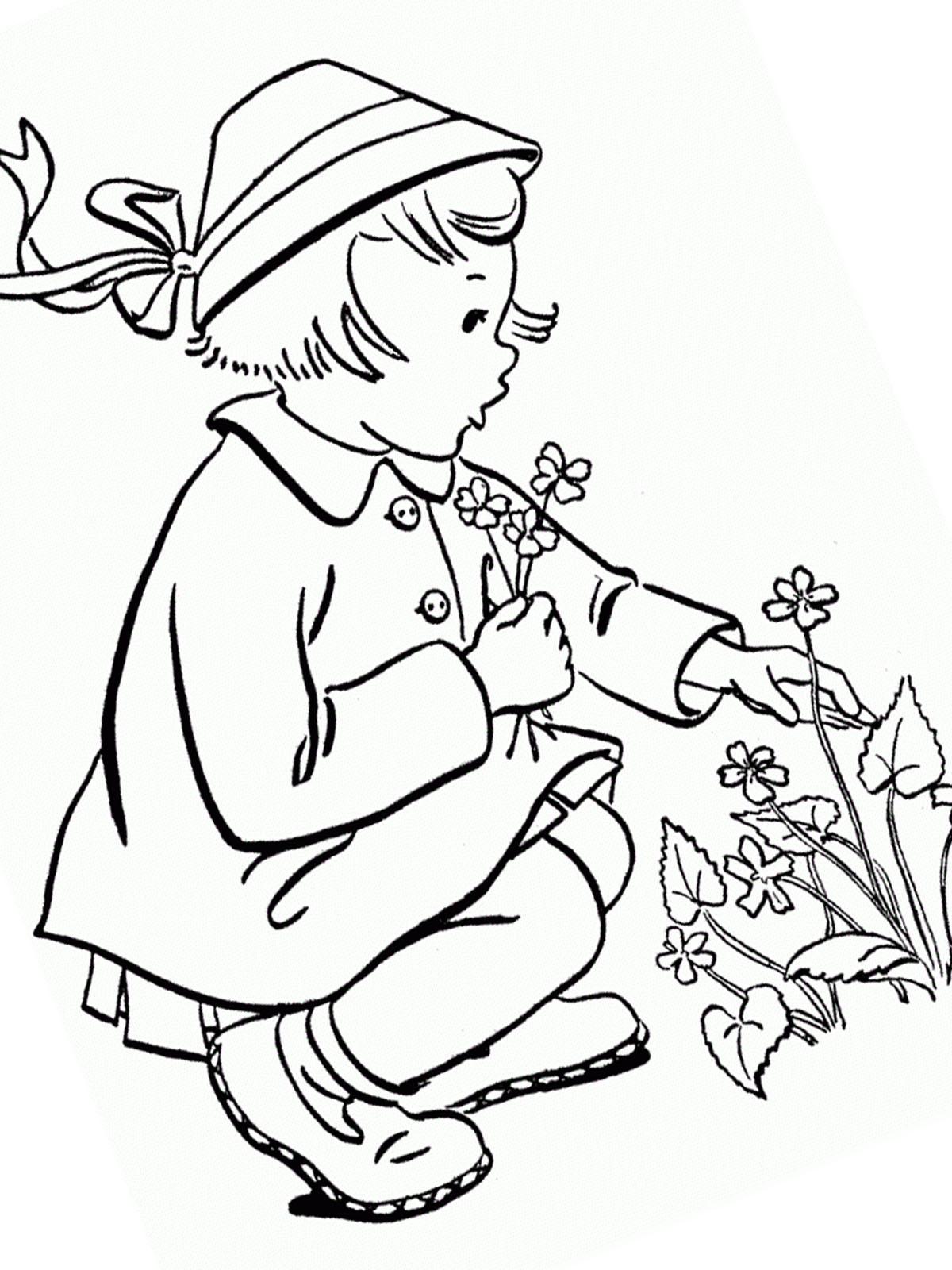 Ausmalbilder Frühling 6 kostenlos | Märchen aus aller Welt, der ...