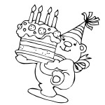 Ausmalbilder Geburtstag 6 kostenlos