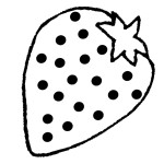 Malvorlage Erdbeere 27 zum Ausdrucken