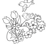Malvorlage Frühling 37 zum Ausdrucken