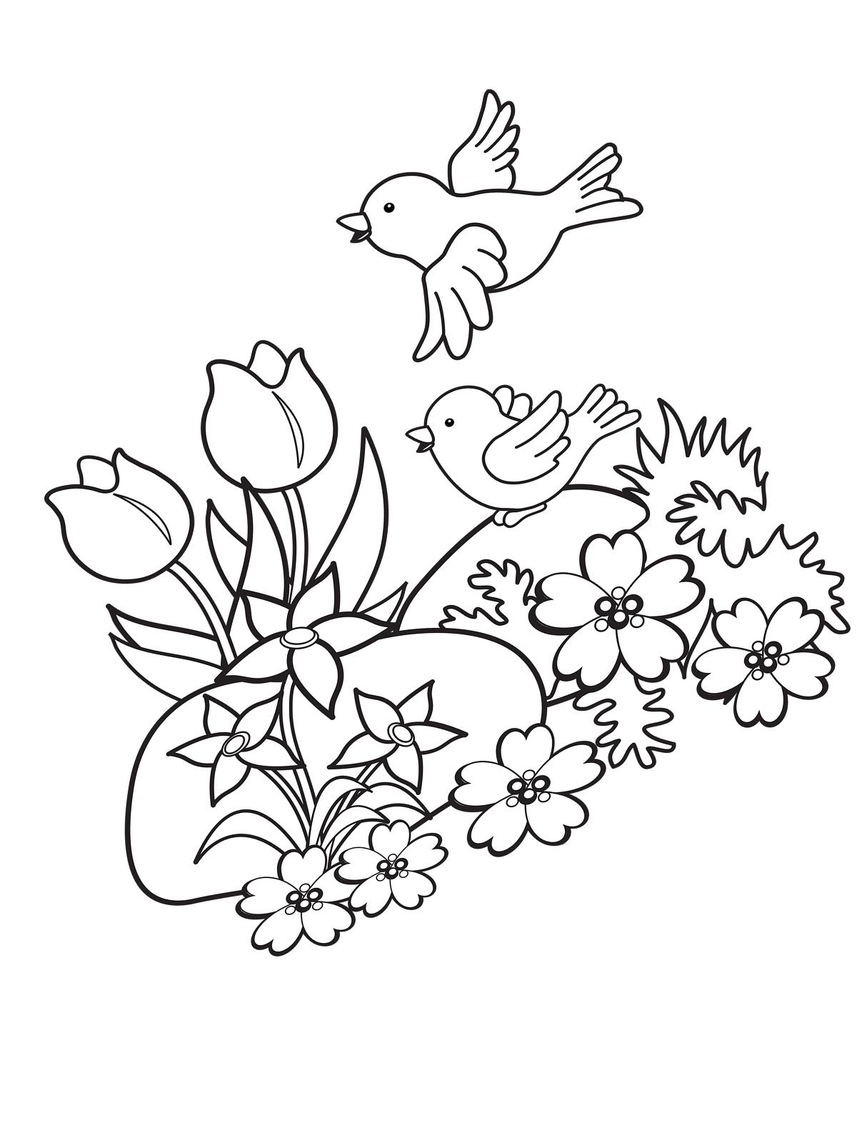 Malvorlage Frühling 37 Zum Ausdrucken Märchen Aus Aller Welt Der