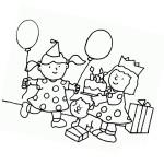 Malvorlage Geburtstag zum Ausdrucken