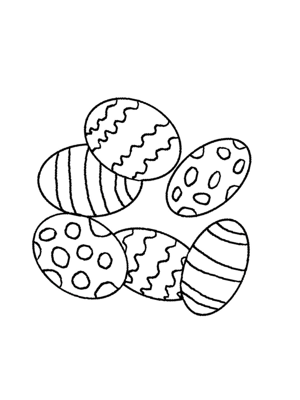ausmalbilder, malvorlagen von ostern kostenlos zum