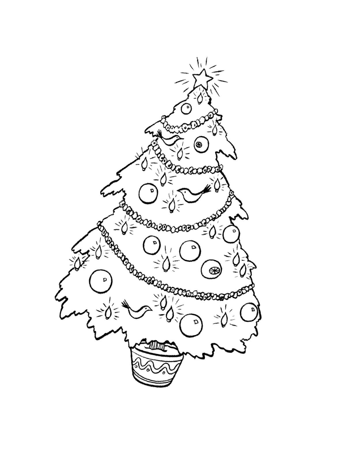 Fantastisch Druckbare Weihnachtsbaum Malvorlagen Bilder ...