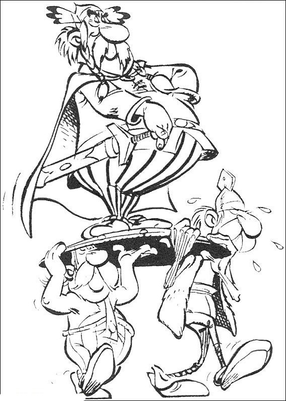 ausmalbilder malvorlagen  asterix und obelix kostenlos