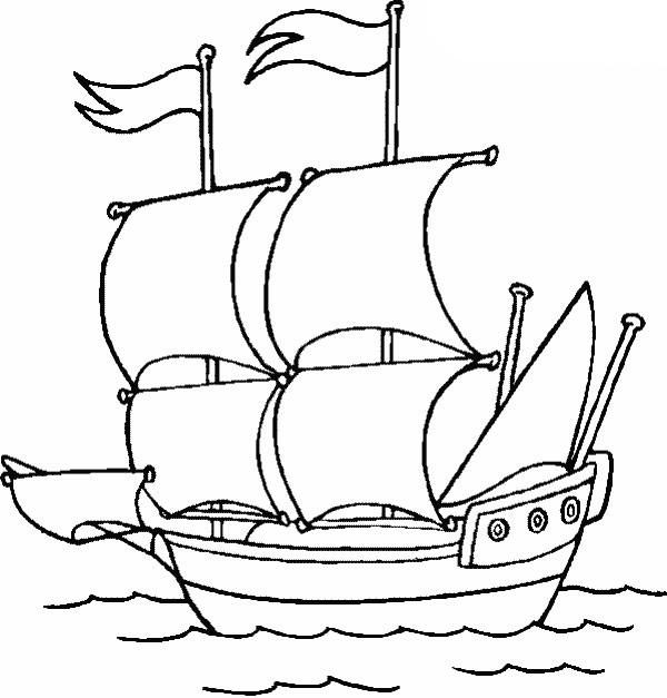 Colonial Development Simple Drawing : Ausmalbilder malvorlagen schiffe kostenlos zum