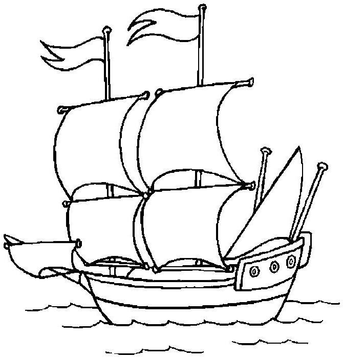 ausmalbilder, malvorlagen - schiffe kostenlos zum