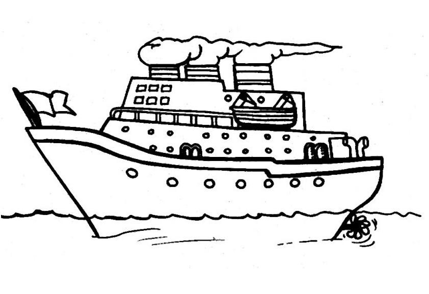 Ausmalbilder, Malvorlagen – Schiffe kostenlos zum Ausdrucken ...