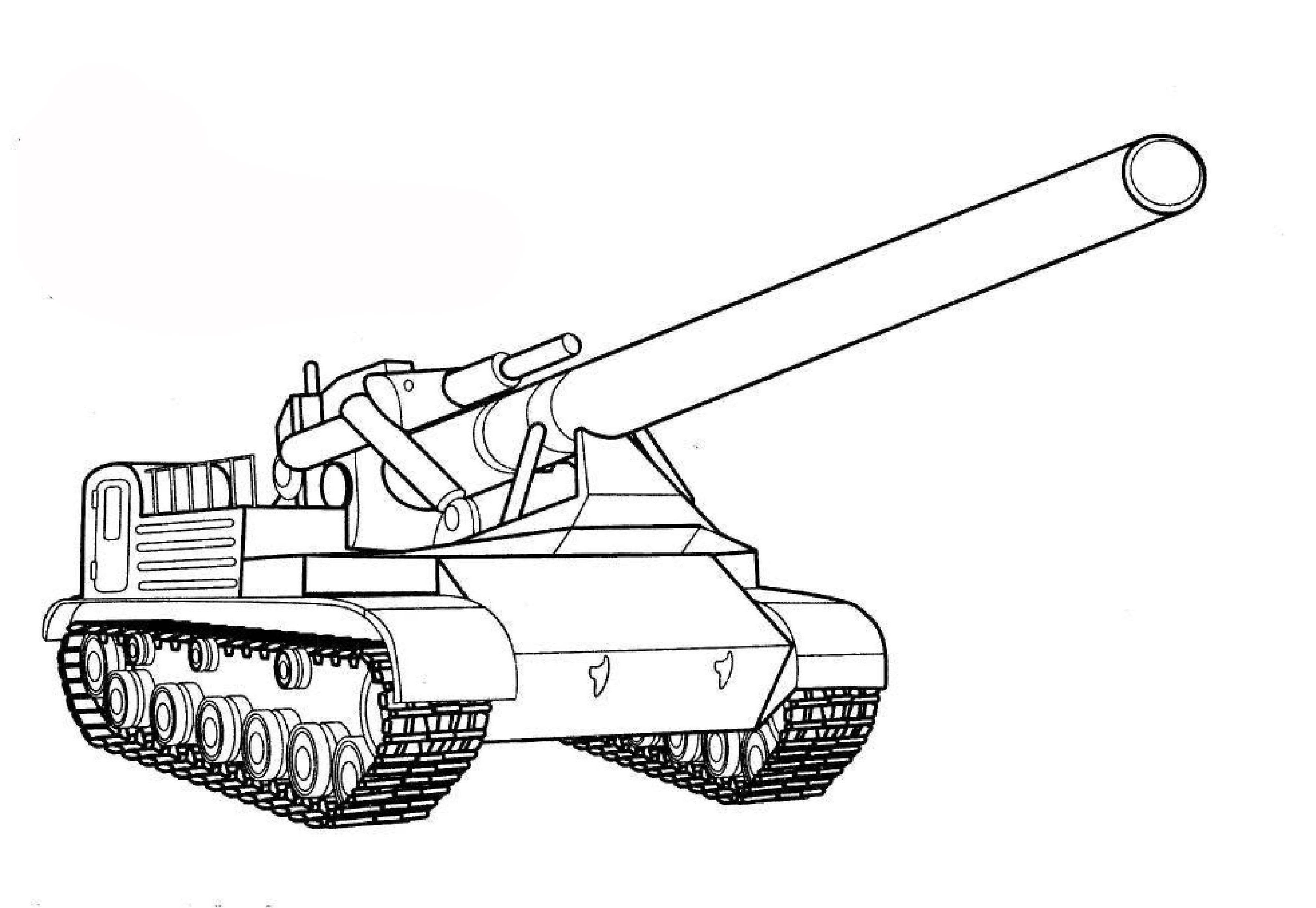 Ausmalbilder Malvorlagen Panzer Kostenlos Zum Ausdrucken