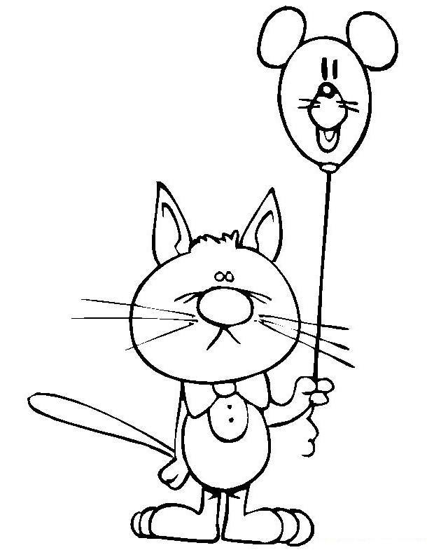ausmalbilder, malvorlagen - katzen kostenlos zum