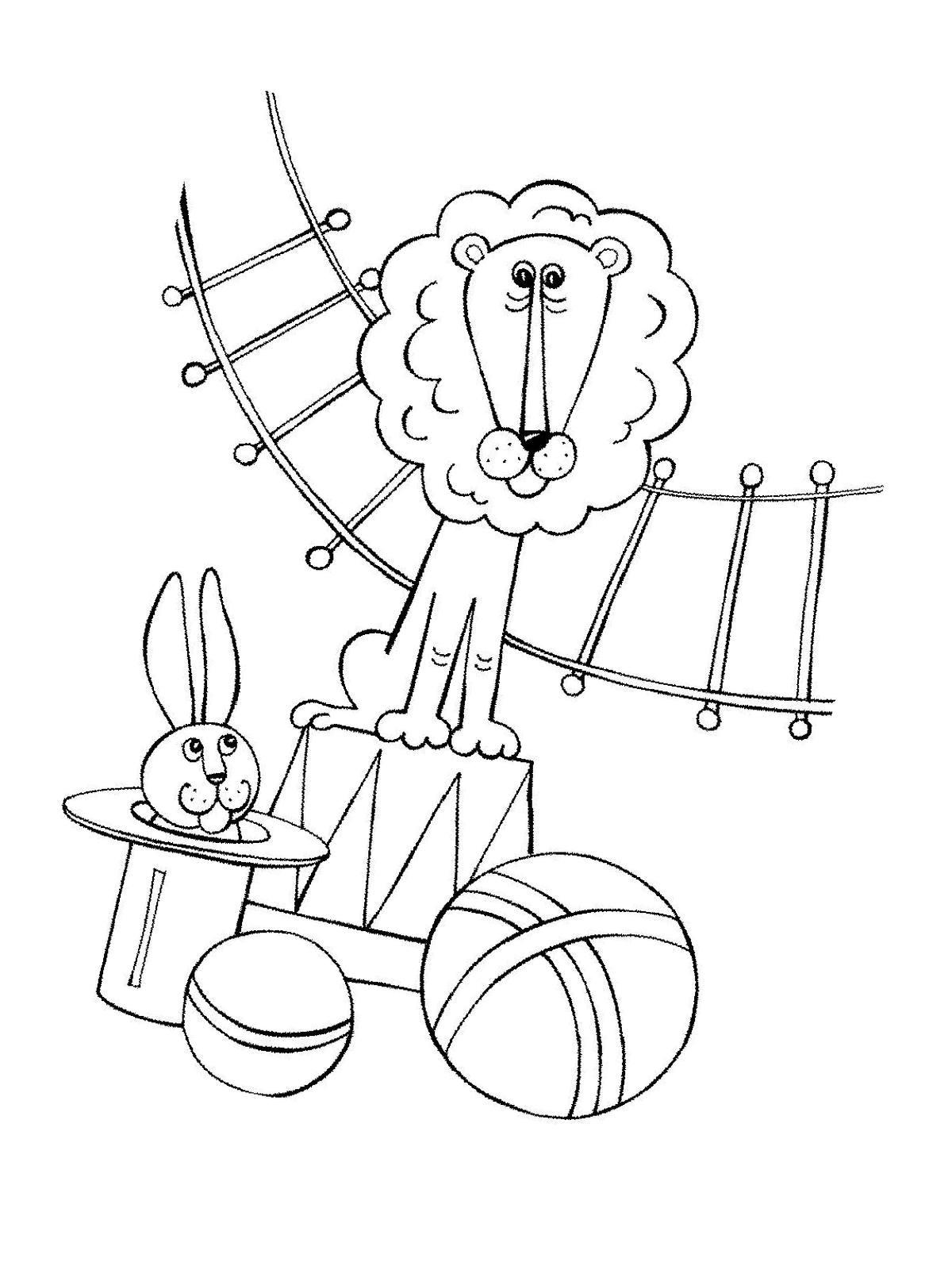 Ausmalbilder Malvorlagen Akrobaten Im Zirkus Kostenlos Zum