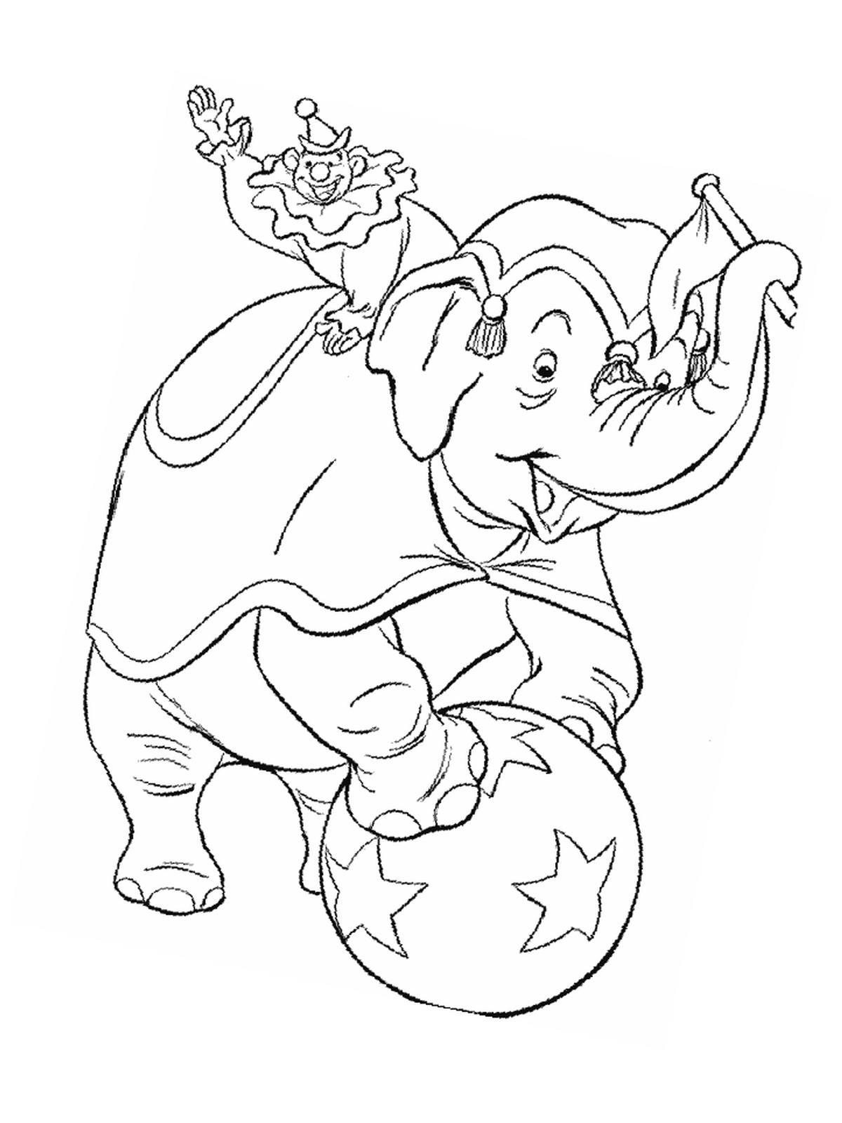 Ausmalbilder, Malvorlagen – Akrobaten im Zirkus kostenlos zum ...