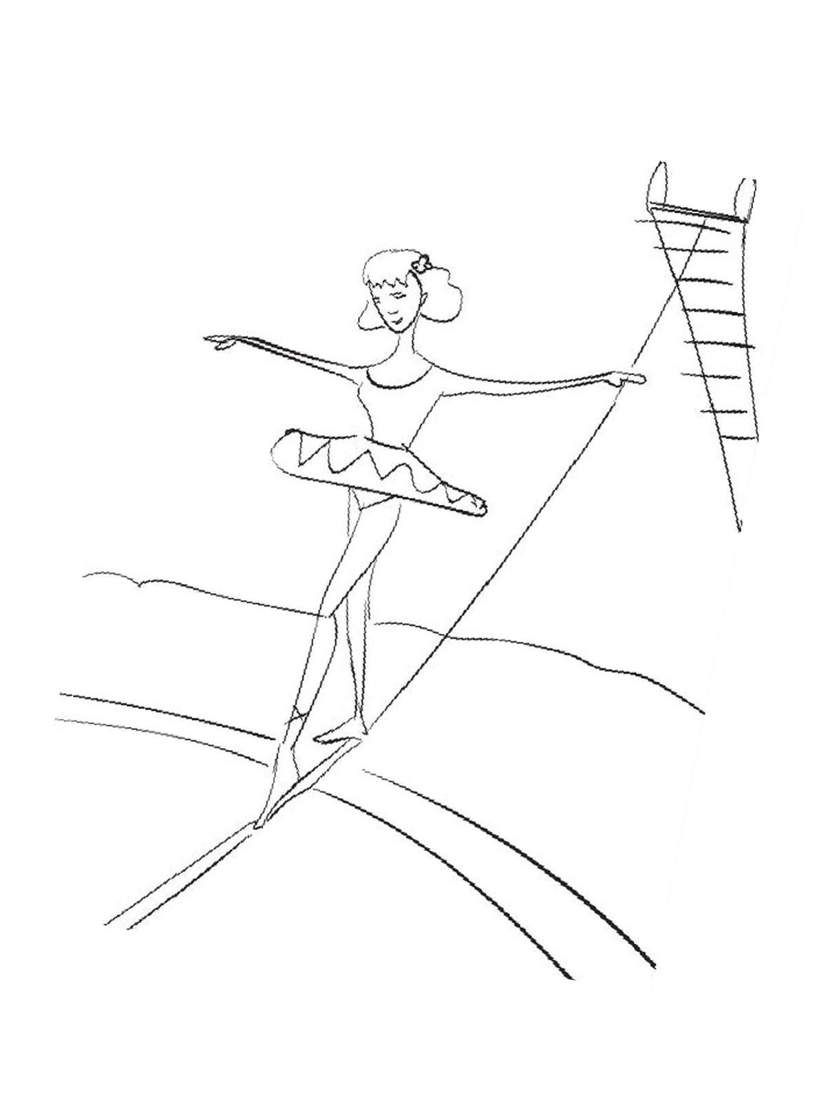 Ausmalbilder, Malvorlagen – Akrobatik kostenlos zum Ausdrucken ...