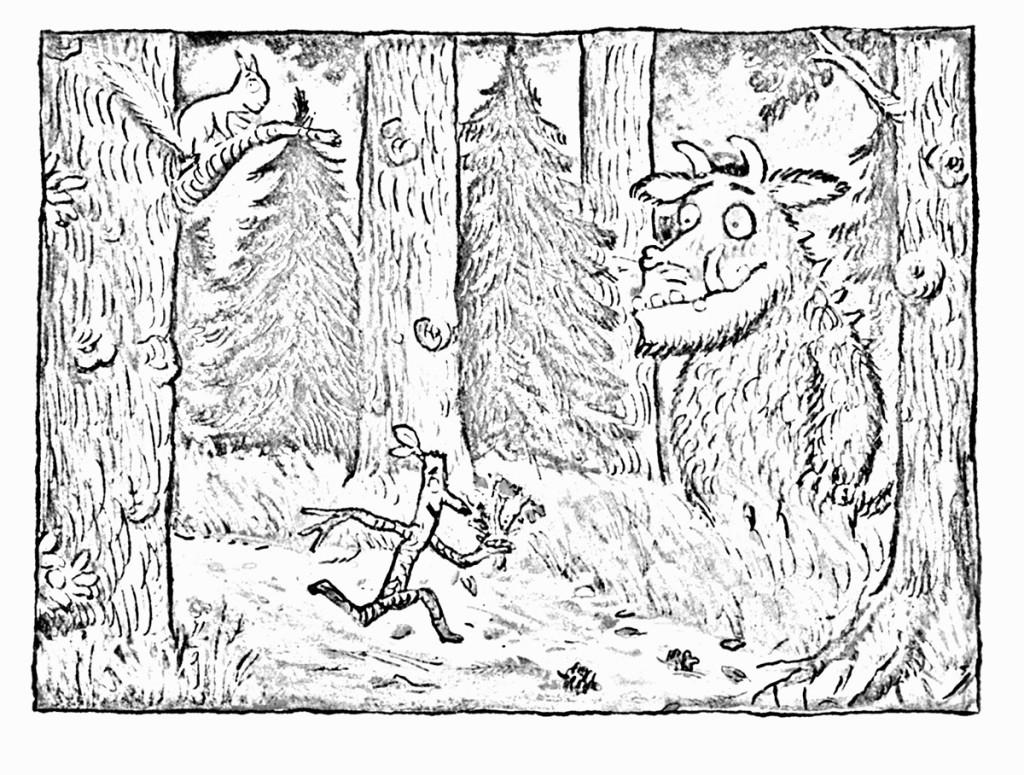 ausmalbild grüffelo kostenlos  märchen aus aller welt