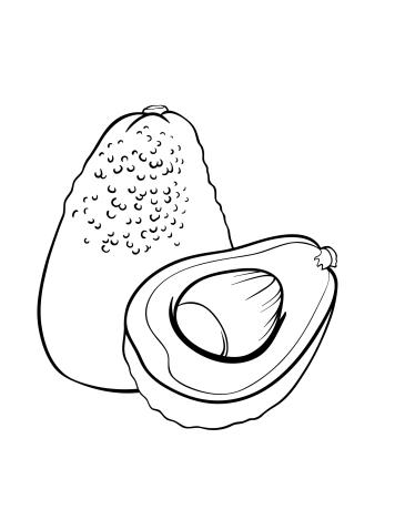 ausmalbilder, malvorlagen - avocado kostenlos zum ausdrucken | märchen aus aller welt, der