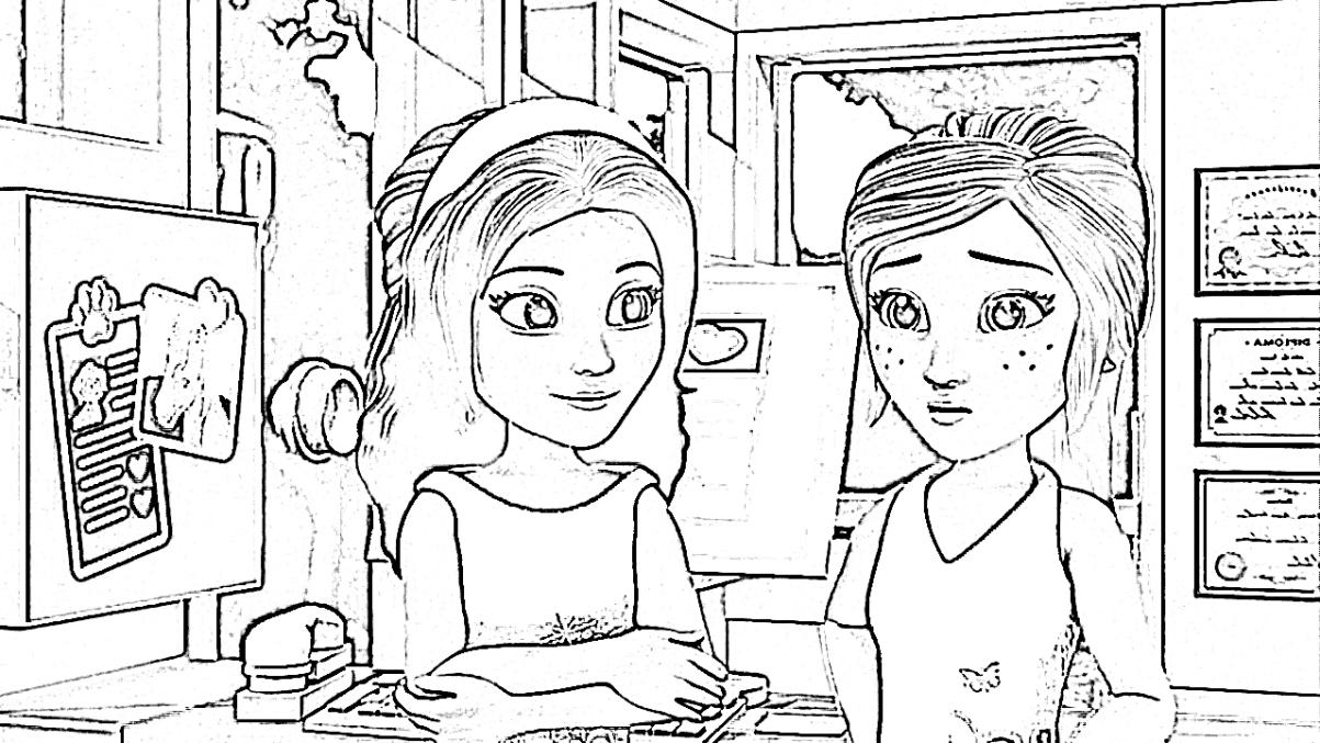 malvorlagen lego friends kostenlos | märchen aus aller
