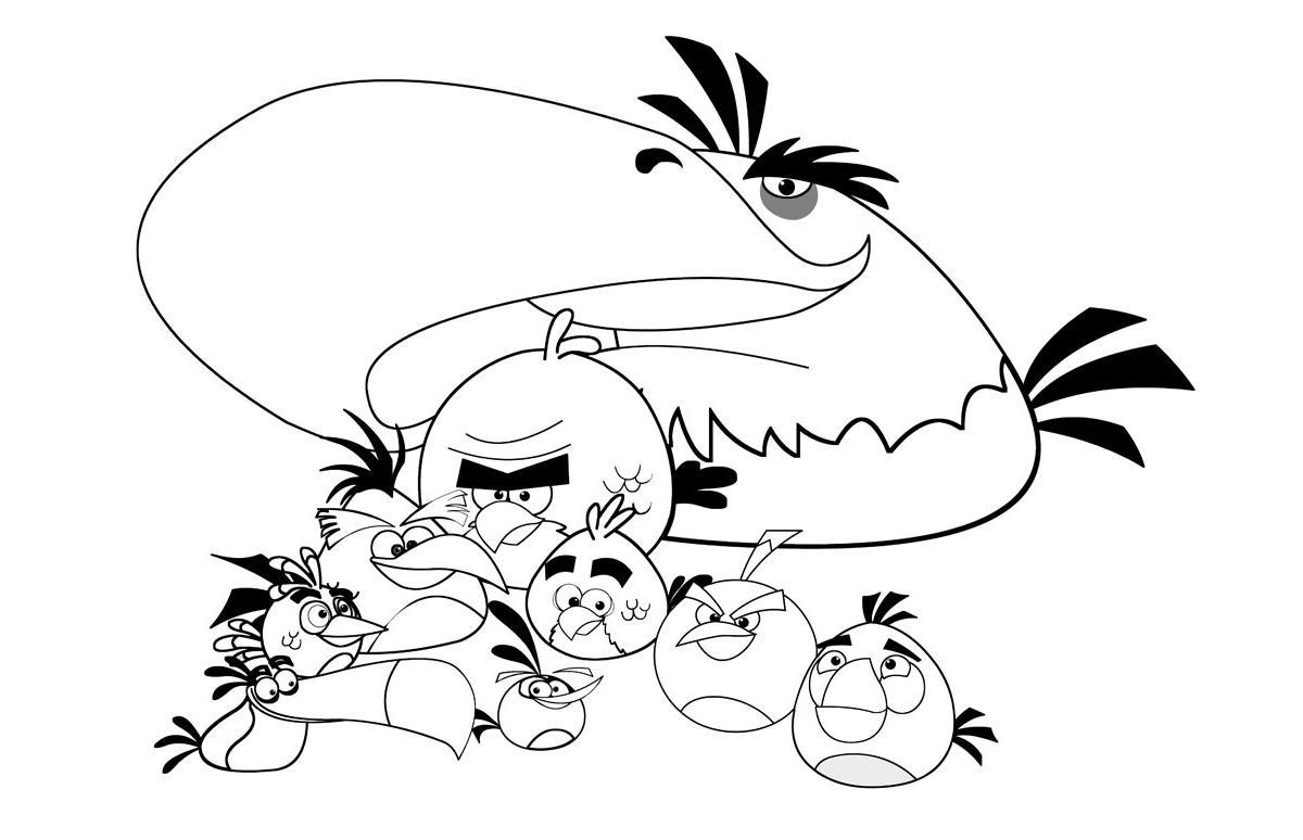 Ausmalbilder, Malvorlagen von Angry Birds kostenlos zum Ausdrucken