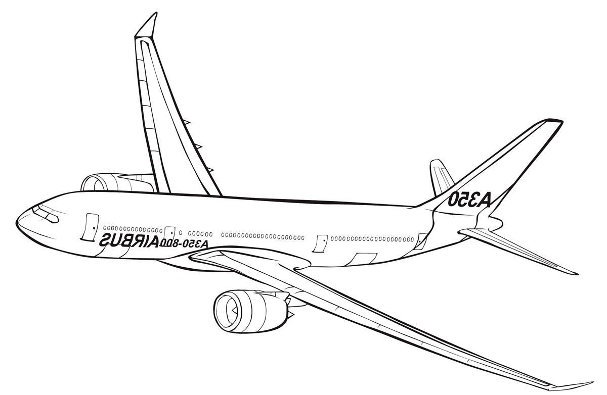 Ausmalbilder Malvorlagen Von Airbus Kostenlos Zum Ausdrucken