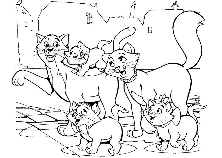 Ausmalbilder Malvorlagen Von Aristocats Kostenlos Zum Ausdrucken