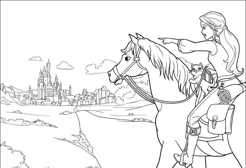 Malvorlage Barbie Pferd Coloring And Malvorlagan