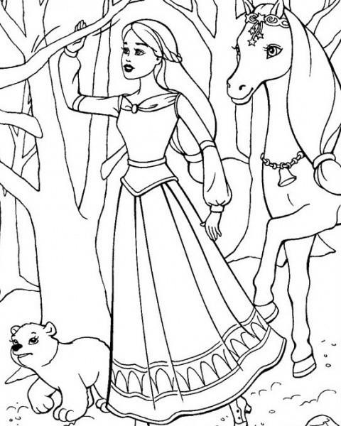 Ausmalbilder Malvorlagen Von Barbie Und Der Geheimnisvolle