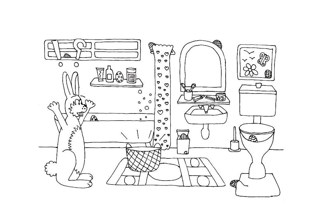 ausmalbilder malvorlagen badezimmer kostenlos zum ausdrucken