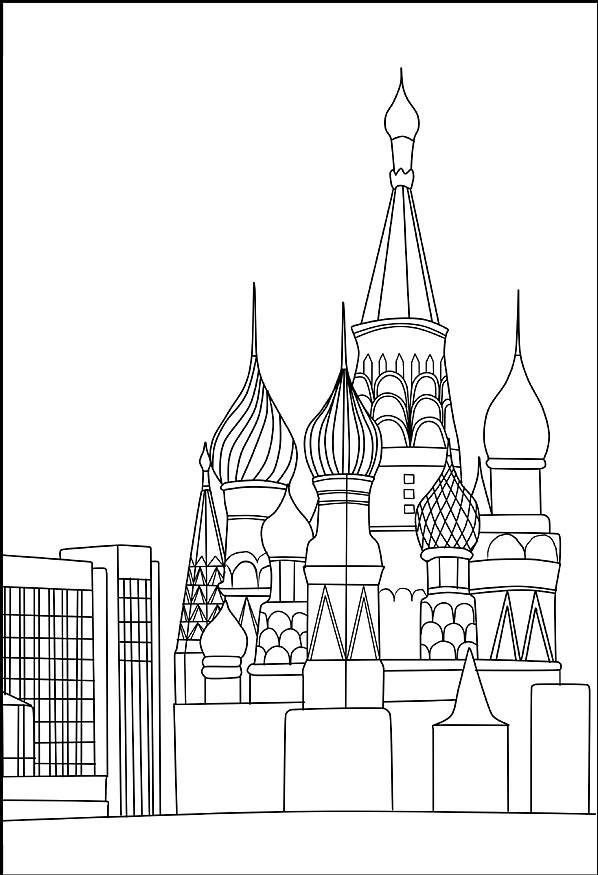 Ausmalbilder, Malvorlagen von Basilius Kathedrale in Moskau ...