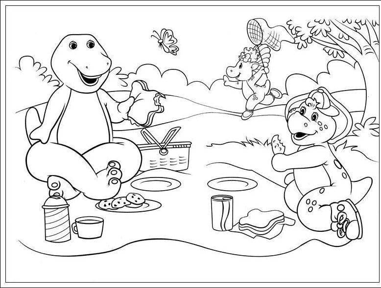 Ausmalbilder, Malvorlagen von Barney und seine Freunde kostenlos zum ...