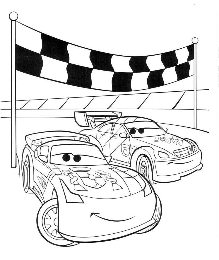 ausmalbilder, malvorlagen von cars kostenlos zum