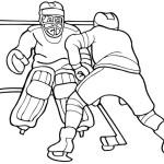 Ausmalbilder Malvorlagen Eishockey Kostenlos Zum