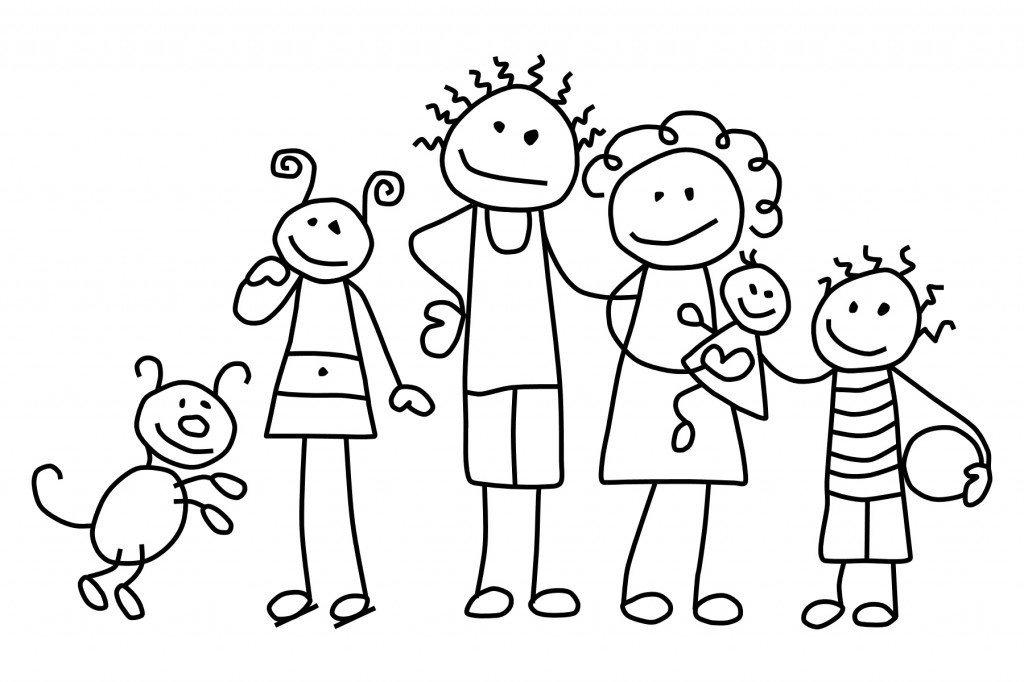 ausmalbilder malvorlagen  familie kostenlos zum
